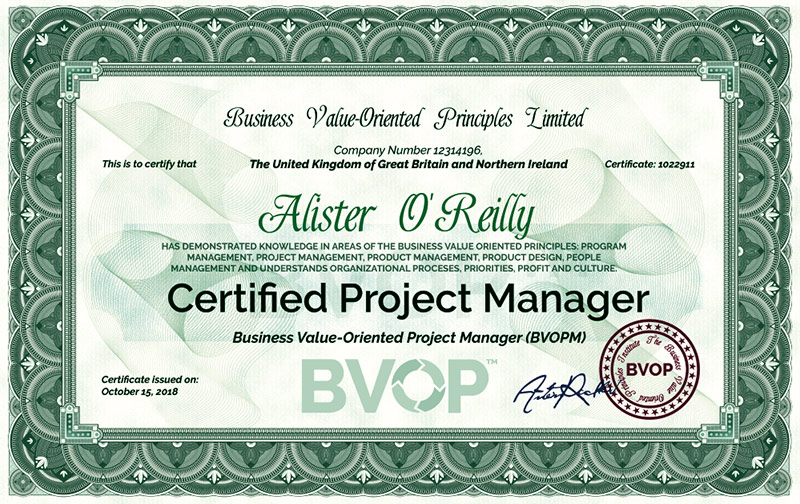 Read the reviews of our students and get the BVOP Certified Project Manager title at a low price